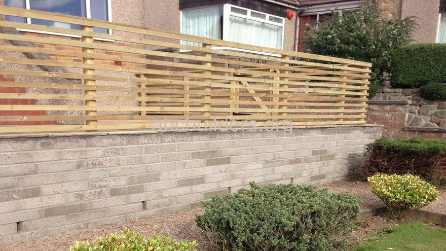 Retaining Wall, Fence and Patio